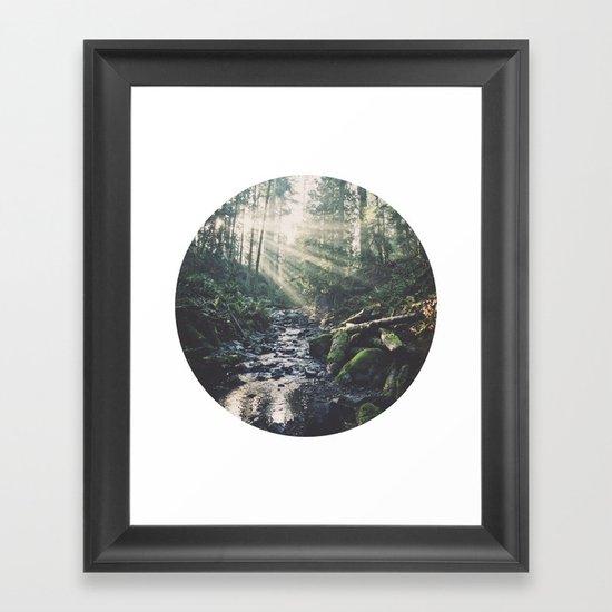 Sunbeam River Framed Art Print