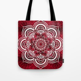 Mandala Red Colorburst Tote Bag
