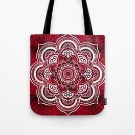 Mandala Red Colorburst Tote Bag