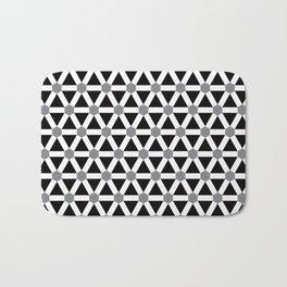 Geometric Pattern 176 (gray triangle grid) Bath Mat