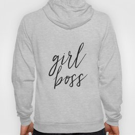 GIRL BOSS ART, Like A Boss, Office Sign,Office Wall Art,Quote Prints,Typography Art,Boss Gift,Girls Hoody