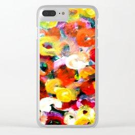 Aboriginal Art - Finger Painting Clear iPhone Case