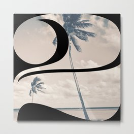 Nr. 2 | Numbers with a View | Typography Letter Art Metal Print