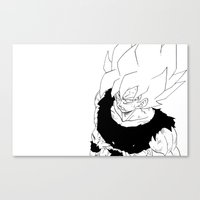 goku Canvas Prints featuring goku by lcrtaya