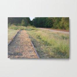 Counter Rail Metal Print