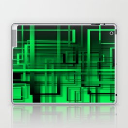 Black and green abstract Laptop & iPad Skin