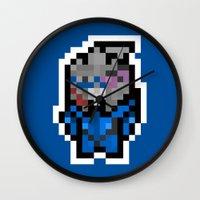garrus Wall Clocks featuring 8Bit Icons - Garrus Vakarian by PixelBlock's Pixelshop
