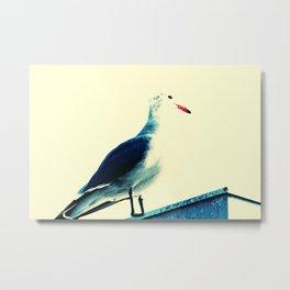 Minimalist Bird VI Metal Print