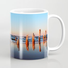 Reflected Remains on the Beach Coffee Mug
