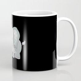 Standing baby elephant smiling lovely kids gift Coffee Mug