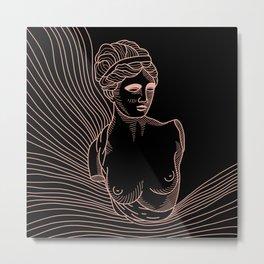 waves of Venus in pink Metal Print