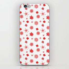 flowers on white background 2 iPhone Skin