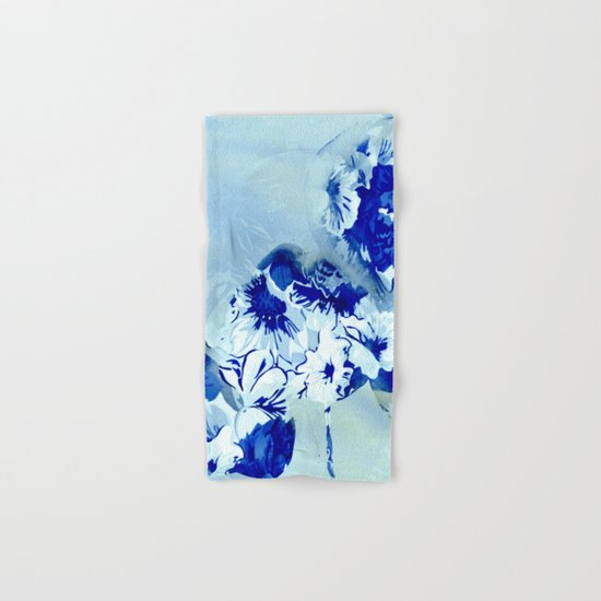 blue balloons floral Hand & Bath Towel