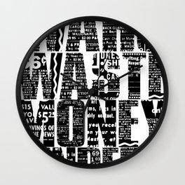 Wars Waste Moneylenders  Wall Clock