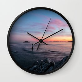 Sunset over the late Wall Clock