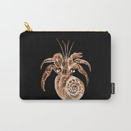 Fish coastal nautical in black background Carry-All Pouch
