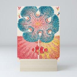 Sea Anemones and Clownfish Vintage Illustration Mini Art Print