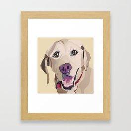 Emma the Yellow Lab- Pet Portrait Framed Art Print