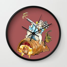 Reba Roni Calzone Wall Clock