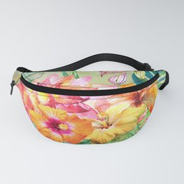 Tropical Hibiscus Garden Fanny Pack