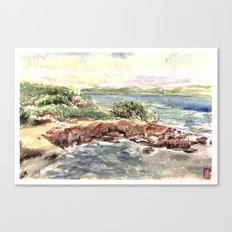 cape red beach Canvas Print