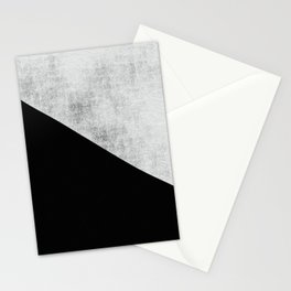 Black and white moderna Stationery Cards