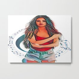 Pop Star Beauty Metal Print