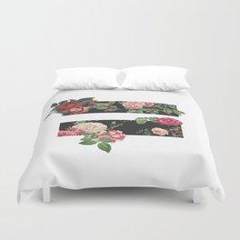 floral equality symbol Duvet Cover