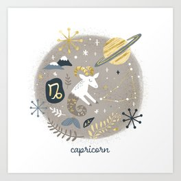 Capricorn Earth Art Print
