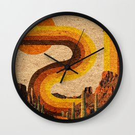 DESERT RAINBOW Wall Clock
