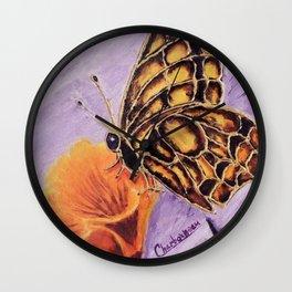 Delicateness butterfly | Délicatesse papillon Wall Clock