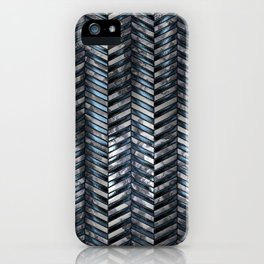 Alien Columns - White and Blue iPhone Case