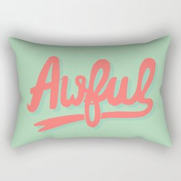 Awful (watermelon colorway) Rectangular Pillow