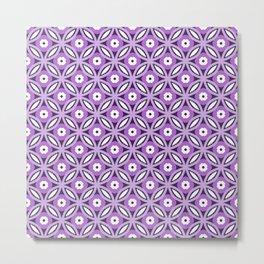 Purple geometric elegant abstract pattern Metal Print