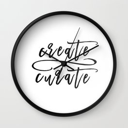 Create / Curate Wall Clock