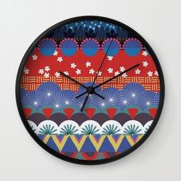 Japanese Tribal Design Wall Clock