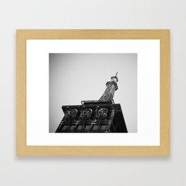 Eiffel Tower at Americana Framed Art Print
