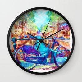 Amsterdam Bicycle Wall Clock