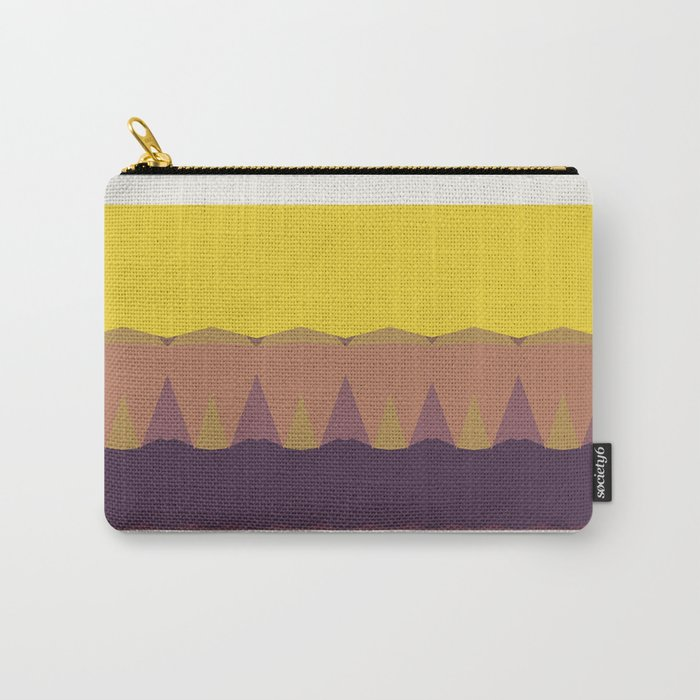 Geometric Sunset Print Carry-All Pouch