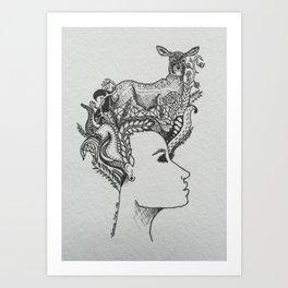 le biche Art Print