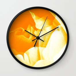 Golden Roses Wall Clock