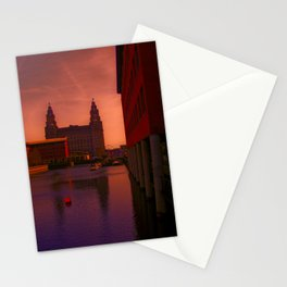 The Liver Building from the Princes Dock Stationery Cards