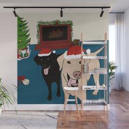 Labs Love Christmas! Wall Mural