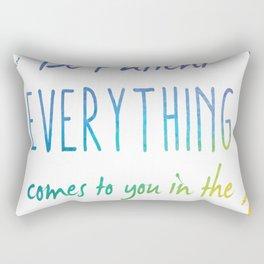 Be Patient Rectangular Pillow