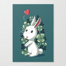 Clover Bunny Canvas Print