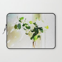 Vase of Flowers with shadows watercolor Laptop Sleeve