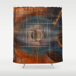 Unoccupied Digital Landscape Shower Curtain