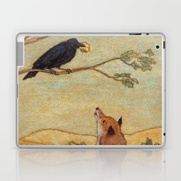 Fox and Crow, Aesop's Fable Illustration in the style of Arthur Rackham and Howard Pyle Laptop & iPad Skin