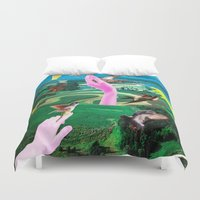 android Duvet Covers featuring Do androids dream of electric sheep? by Laura Nadeszhda