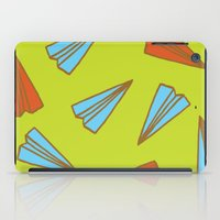 planes iPad Cases featuring Paper Planes by evannave